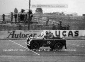 Land Rover Series 1, Arthur  Baker, Silverstone 3 July 1954